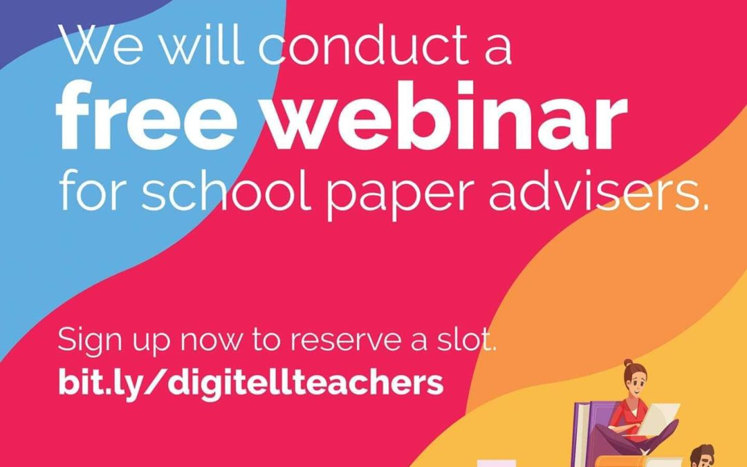 Free Webinar For School Paper Advisers