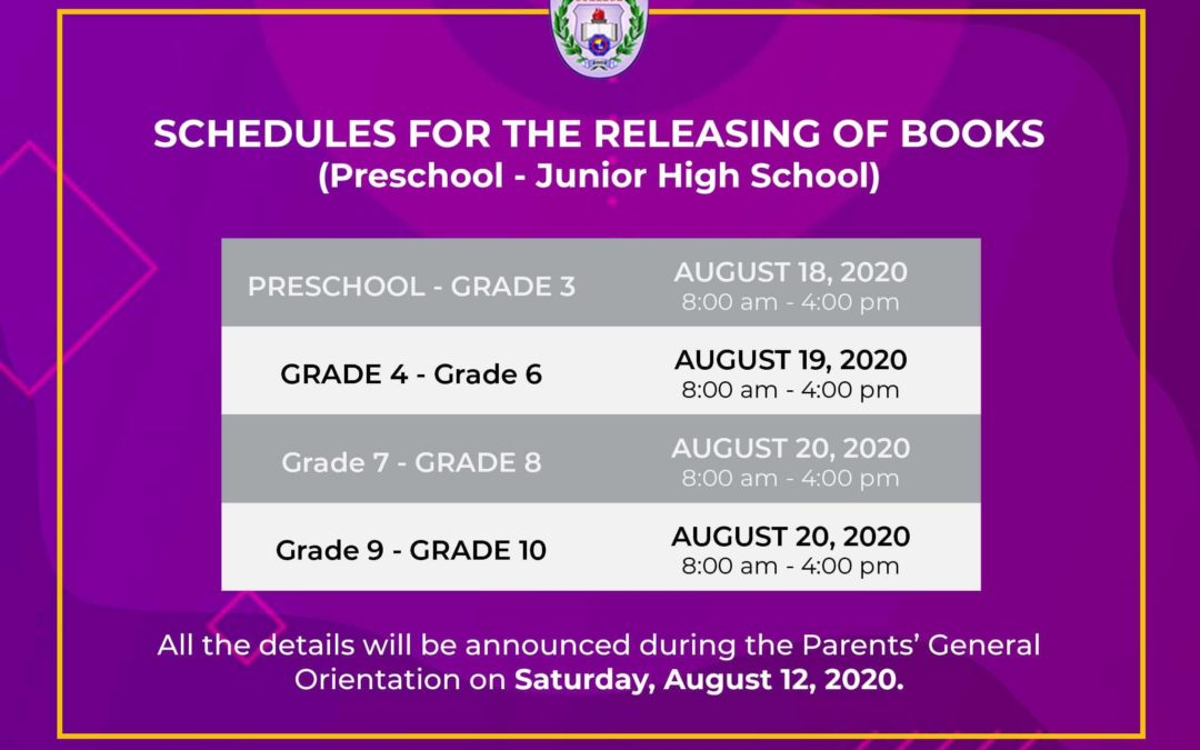 IBED Schedules For Releasing Of Books (UPDATE)