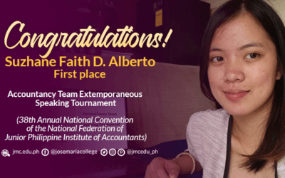 JMarian bags gold in national extemporaneous speaking